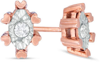 Zales 1/10 CT. T.W. Diamond Solitaire Marquise Stud Earrings in 10K Rose Gold