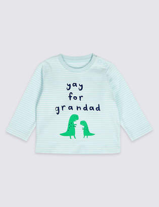 Marks and Spencer Pure Cotton Yay for Grandad Top