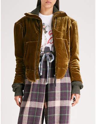 Vivienne Westwood Historical velvet bomber jacket