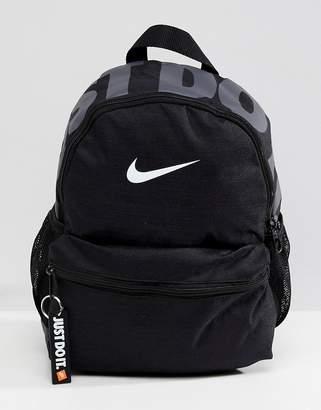 Nike Black Just Do It Logo Mini Backpack