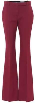 Alexander McQueen Flared crêpe pants