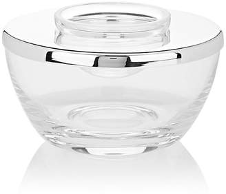 Barneys New York Crystal Small Caviar Bowl With Silver-Plated Lid