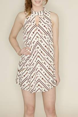 Hommage Keyhole Halter Dress