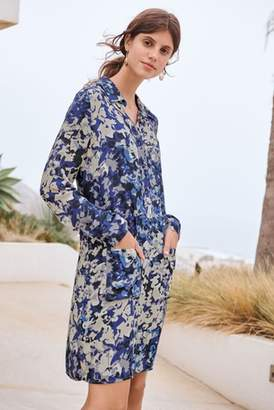 Next Womens Blue Camo Shirt Dress
