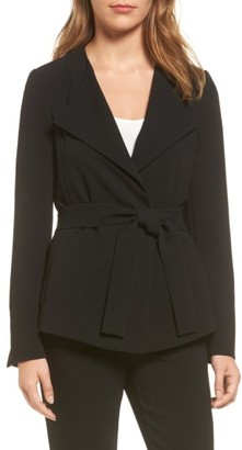 Women's Boss Karelina Belted Suit Jacket $545 thestylecure.com