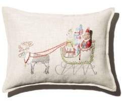 Coral & Tusk Sleigh Embroidered Pocket Decorative Pillow, 12 x 16