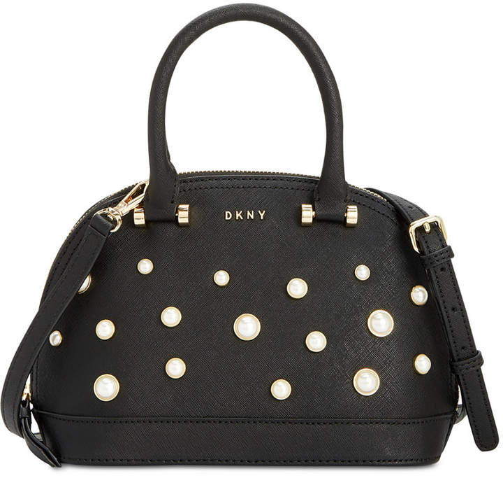 Dkny Round Pearl Small Satchel, Created for Macy's