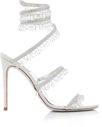 Rene Caovilla Exclusive Crystal-Embellished Sandal