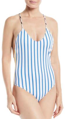 Caroline Constas Delfina Striped One-Piece Swimsuit