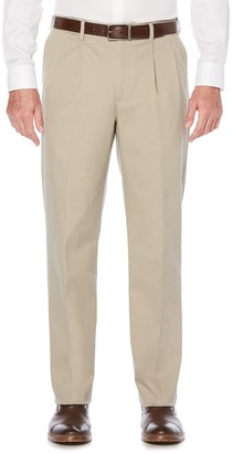 Savane Men's Ultimate Straight-Fit Performance Pleated Chino Pants
