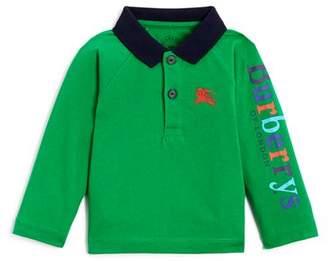 Burberry Boys' Laird Color-Block Logo Polo Shirt - Baby
