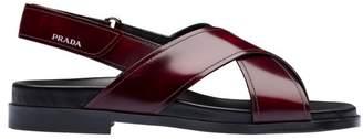 Prada Brushed Leather Sandals