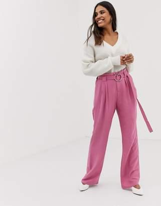 Vila ring belt trousers