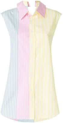 Marni longline striped shirt