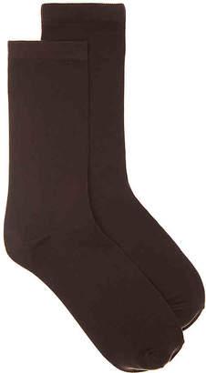 Via Spiga Solid Crew Socks - 2 Pack - Women's