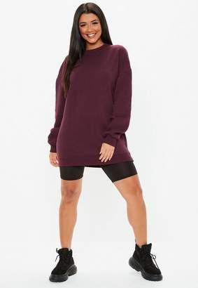 Missguided Tall Burgundy Oversized Brush Back Sweatshirt