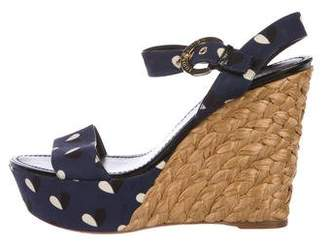 Louis Vuitton Printed Platform Wedges