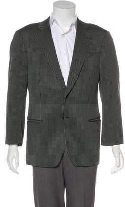 Armani Collezioni Jacquard Wool-Blend Blazer