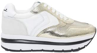 Voile Blanche Leather And Fabric Sneakers may