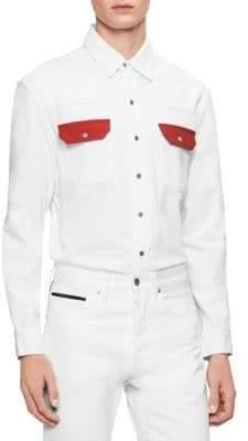 Calvin Klein Jeans Western Contrast Cotton Sport Shirt