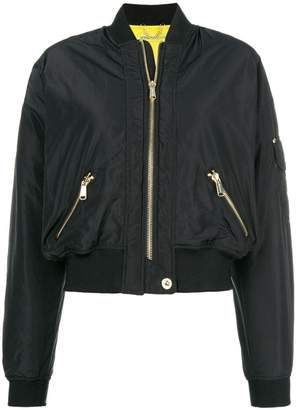 Versace zipped bomber jacket