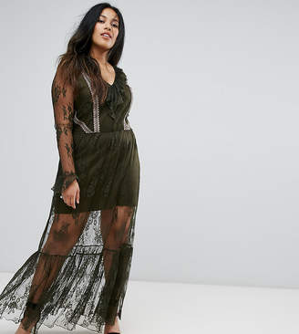 ELVI Premium Lace Maxi Dress