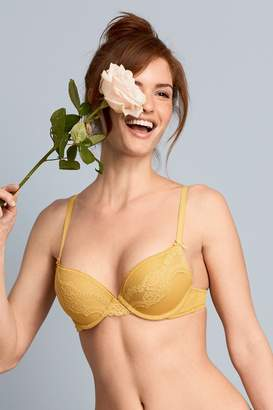 Next Womens Ochre Cara Push-Up Plunge Bra - Yellow