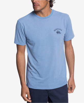 Quiksilver Men's Waterman Stacked Up Performance Logo Graphic T-Shirt