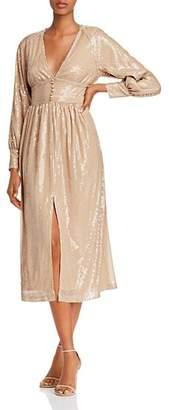 O.P.T Hera Sequin Peasant Dress