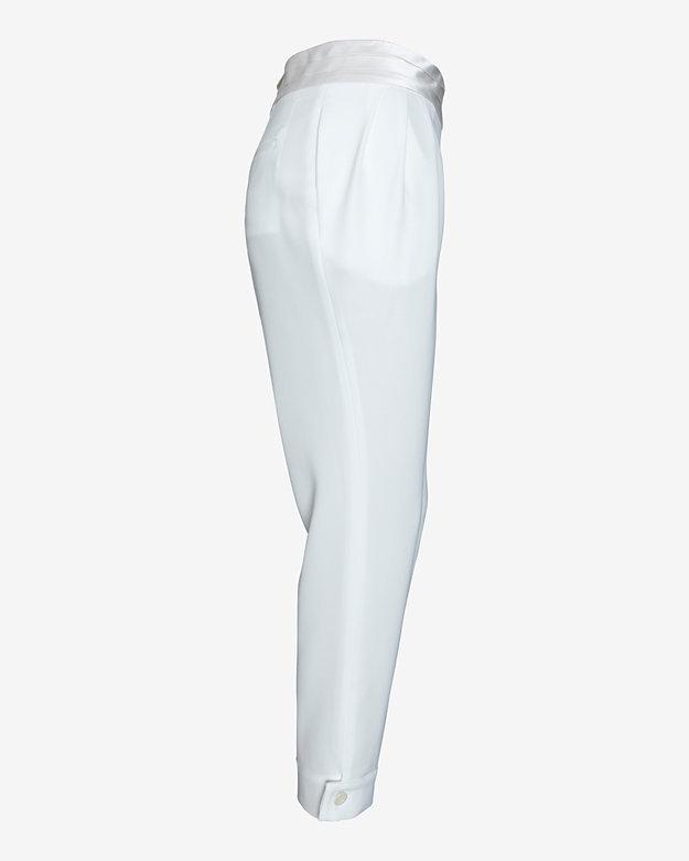 Torn By Ronny Kobo Tuxedo Waist Harem Pant: White
