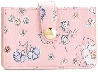 Miu Miu floral cardholder wallet