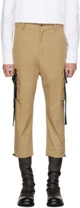 BEIGE D by D Out Strap Pocket Cargo Pants