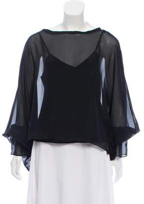 Ramy Brook Silk Long Sleeve Blouse