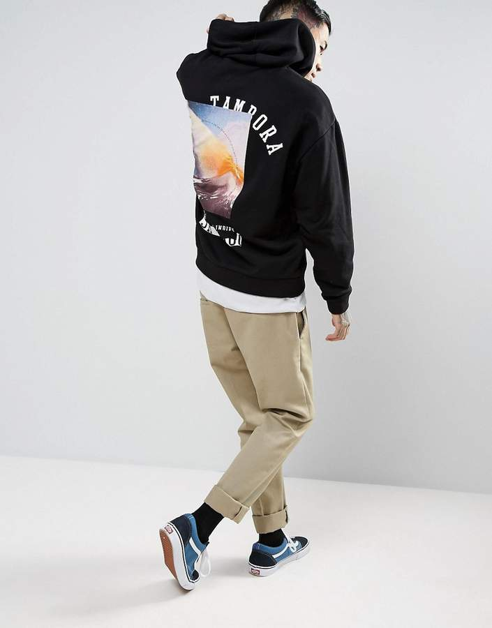 ASOS Oversized Hoodie With Back Print 2