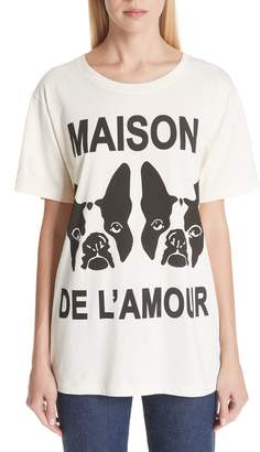 Gucci Maison de l'Amour Dog Print Cotton Jersey Tee