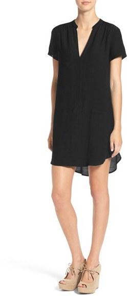 Women's Lush Split Neck Shift Dress