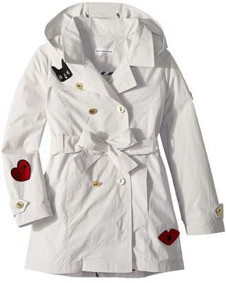 Sonia Rykiel Kids Alara Trench Coat w/ Patch Detail Girl's Coat