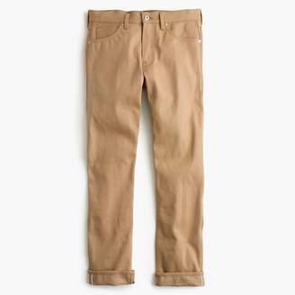 J.Crew Wallace & Barnes Straight fit jean in khaki selvedge denim