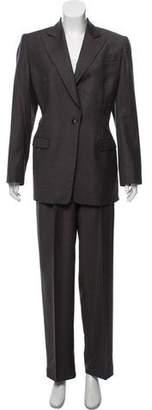 Giorgio Armani Virgin-Wool High-Rise Pantsuit