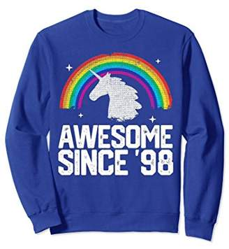 Unicorn Rainbow 1998 20 Year Old 20th Birthday Sweatshirt