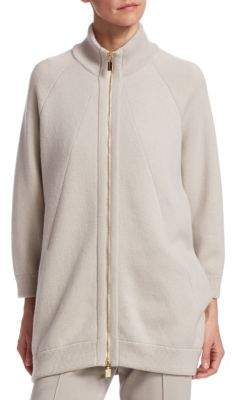 Barbara Lohmann Double Fleece Zip Bomber Jacket