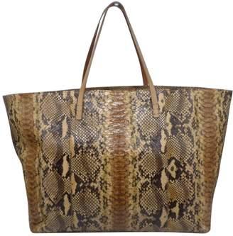 Fendi Roll Bag Brown Python Handbags