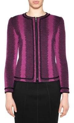 Stizzoli, Plus Size Wool Stripe Tailored Jacket