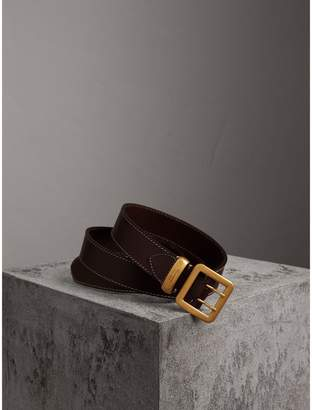 Burberry Double-pin Buckle Leather Belt