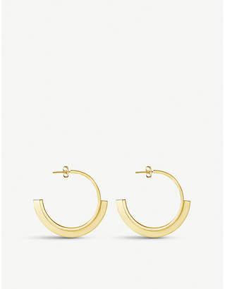 Missoma Ltd Rhea 18ct gold-plated convex hoop earrings