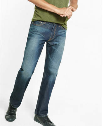 Express loose boot dark wash 100% cotton jeans