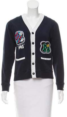 A Bathing Ape Letterman Button-Up Cardigan