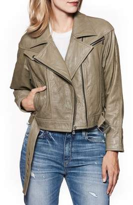 Paige Sivan Leather Moto Jacket