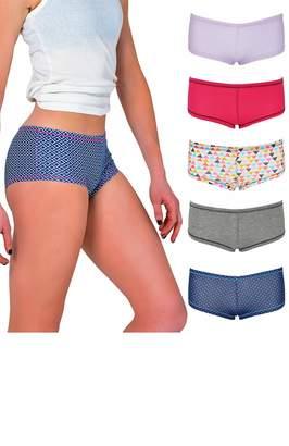 ccb185481d3a Ultrasoft Emprella Women's Boyshort Panties (10-Pack) Comfort Ultra-Soft  Cotton Underwear