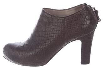 Devi Kroell Python Ankle Boots